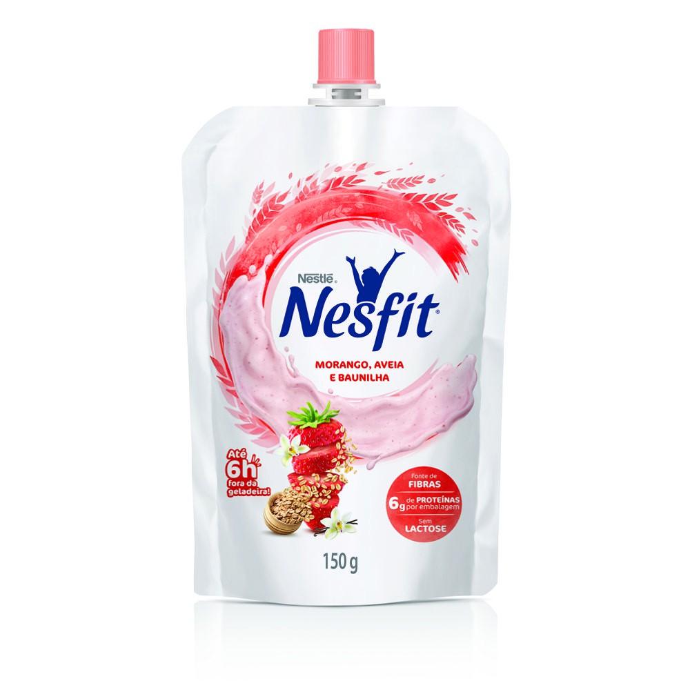 Iogurte morango, baunilha e aveia Nesfit