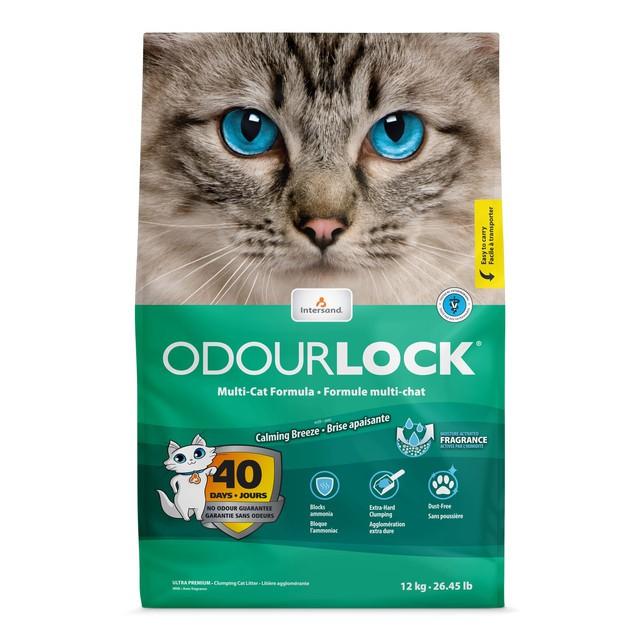 Odour lock clumping cat litter calming breeze
