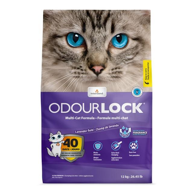 Odour lock clumping cat litter lavender field