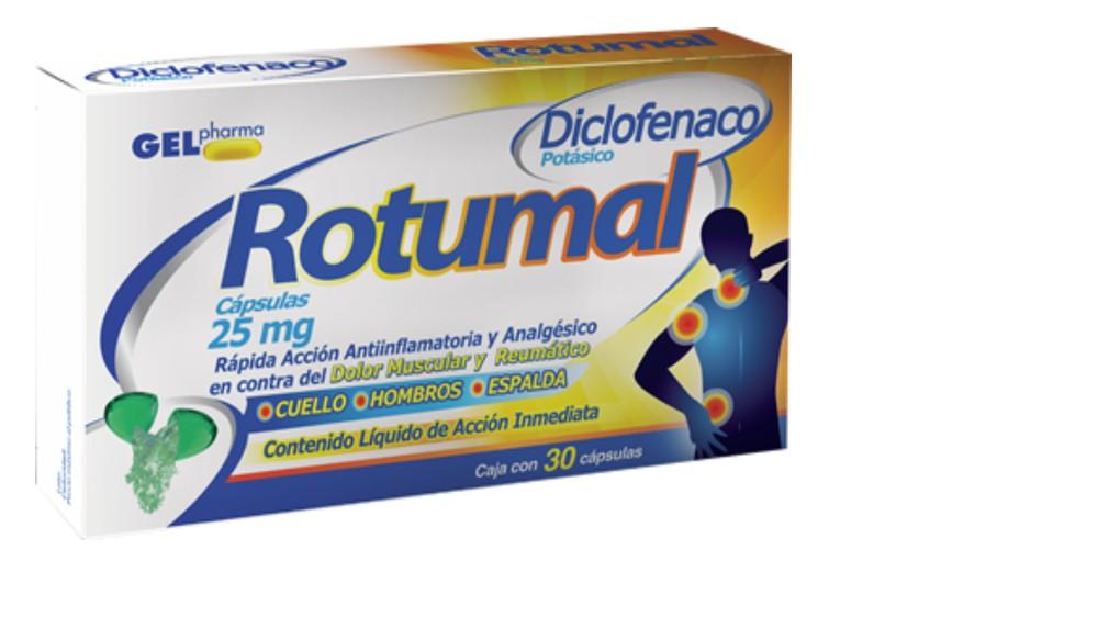 Rotumal diclofenaco potásico cápsulas 25 mg