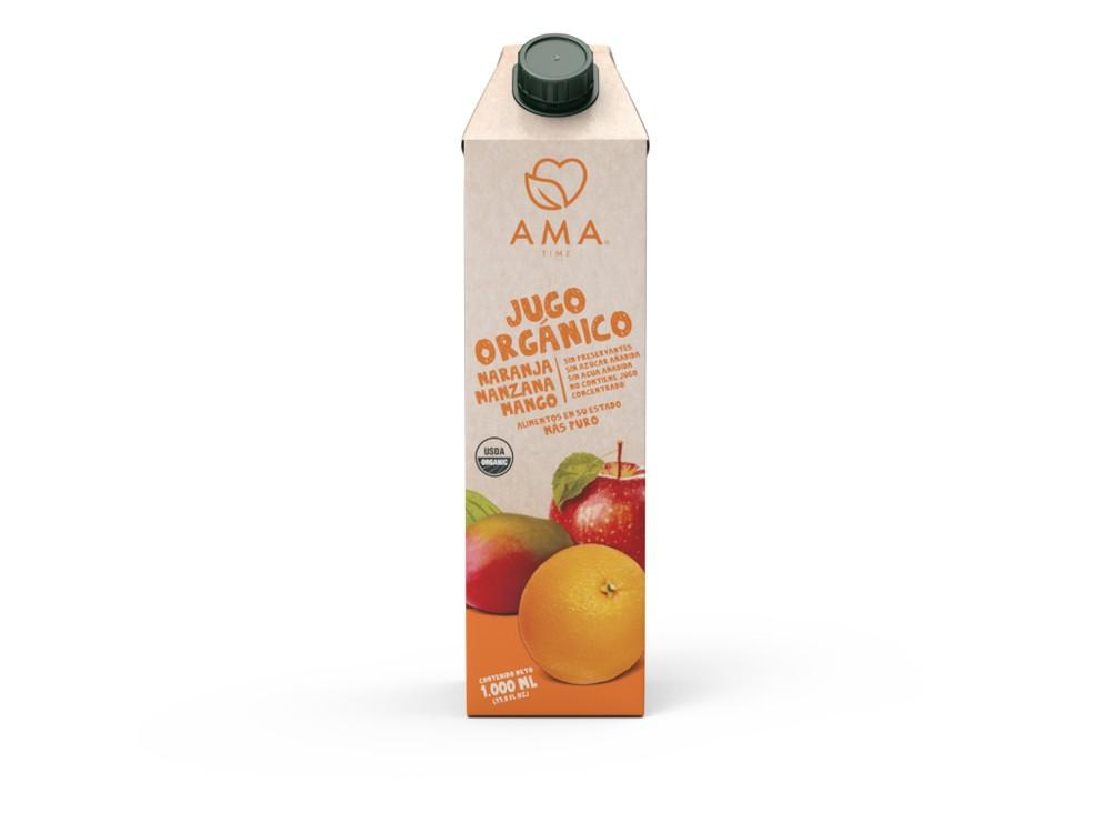 Jugo naranja manzana y mango orgánico