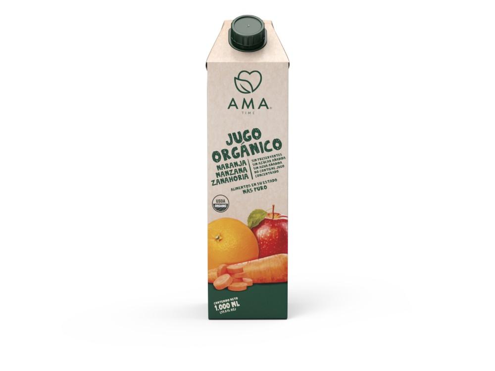 Jugo naranja manzana y zanahoria orgánico 1 LITRO