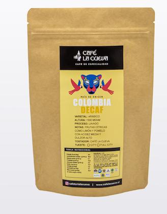 """Café en grano """"colombia decaf"""""""