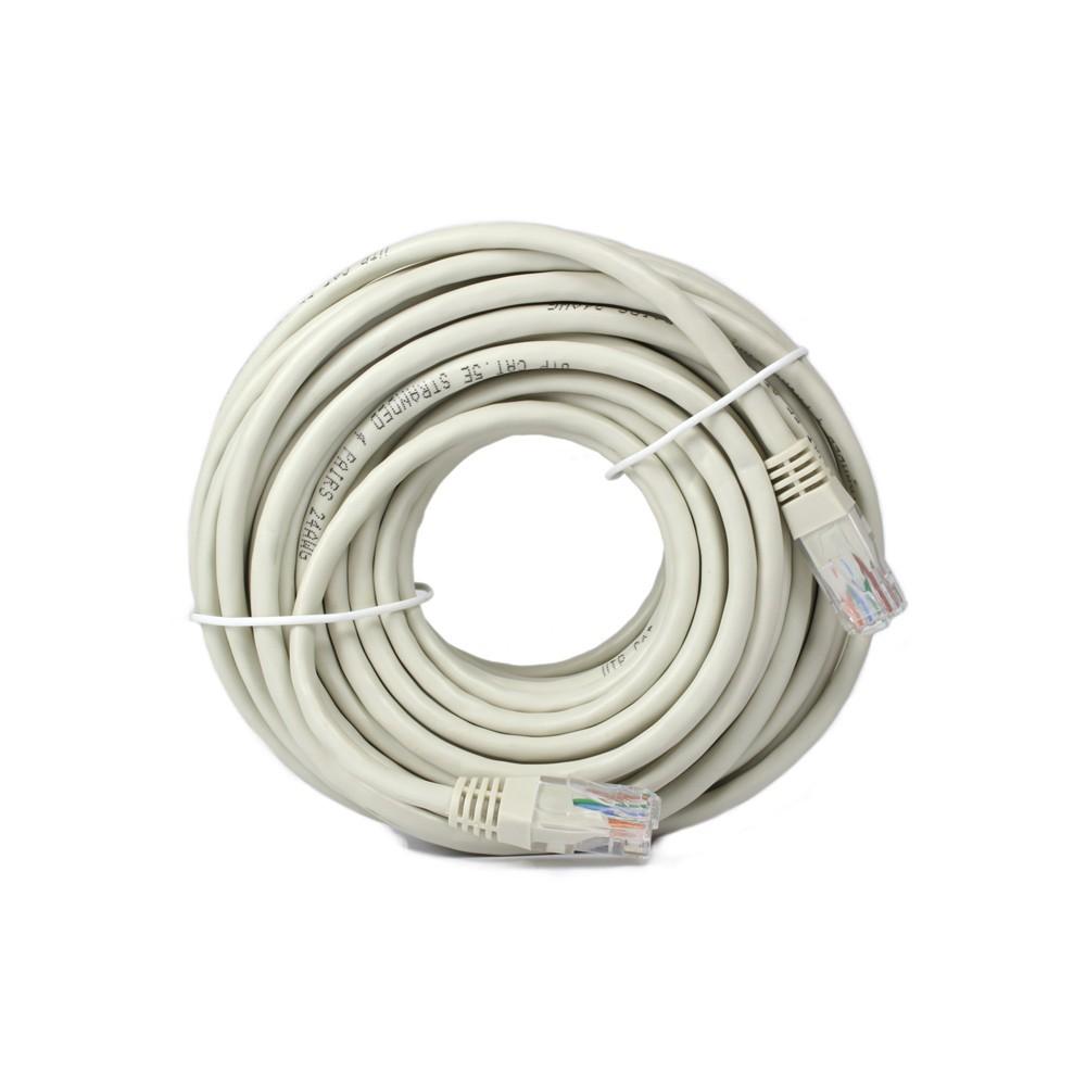 Cable de red categoría 5, color gris, 15 metros jl46053 15 mt