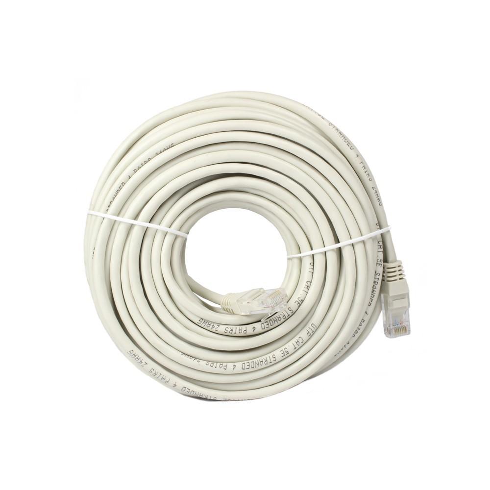Cable de red categoría 5, color gris, 20 metros jl46053