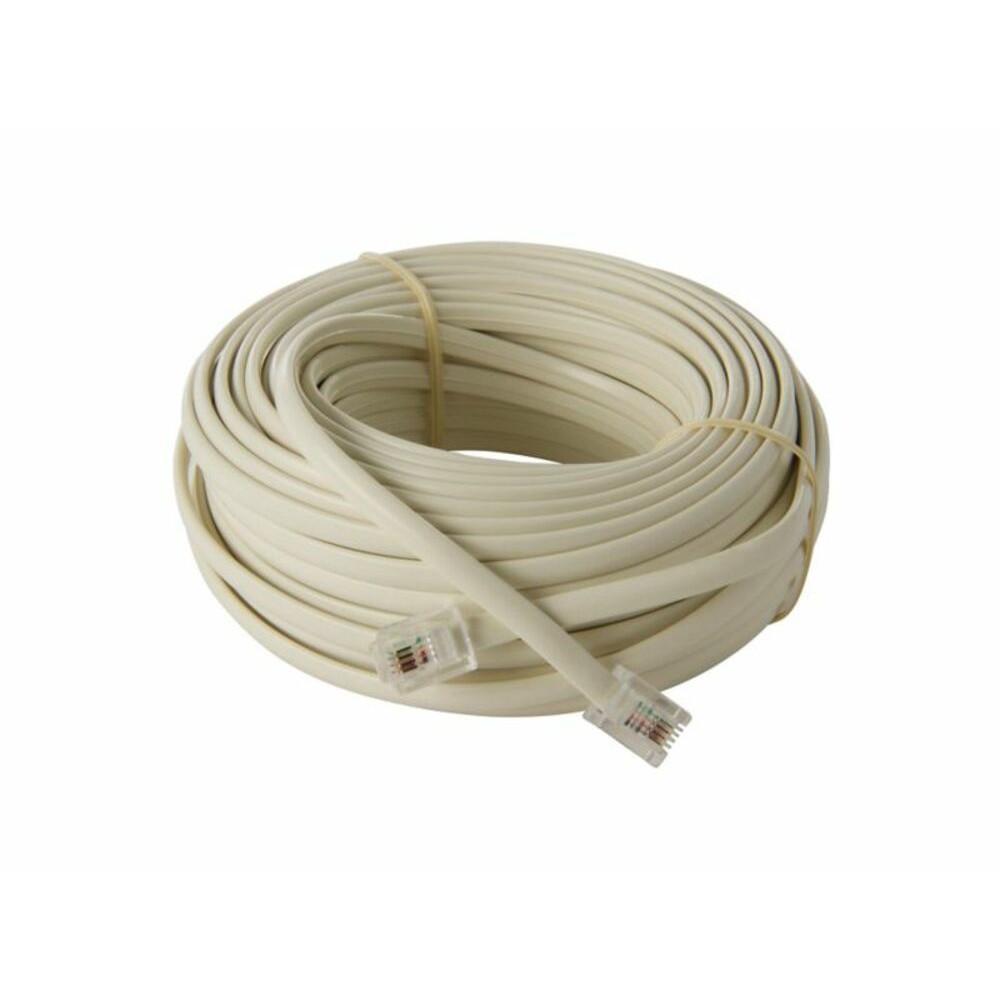 Cable extensión telefónica 4,5 mts mt-0515 conectores 6p 4c