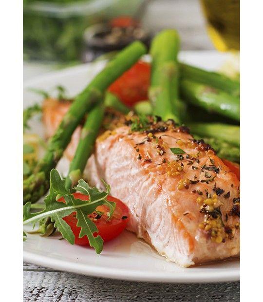 Salmon porción con piel