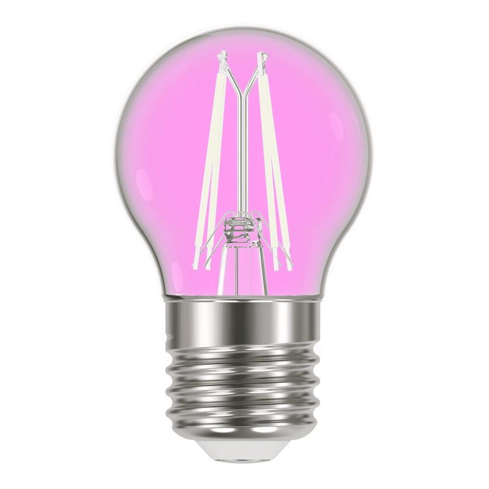 Lâmpada led filamento color g45 rosa