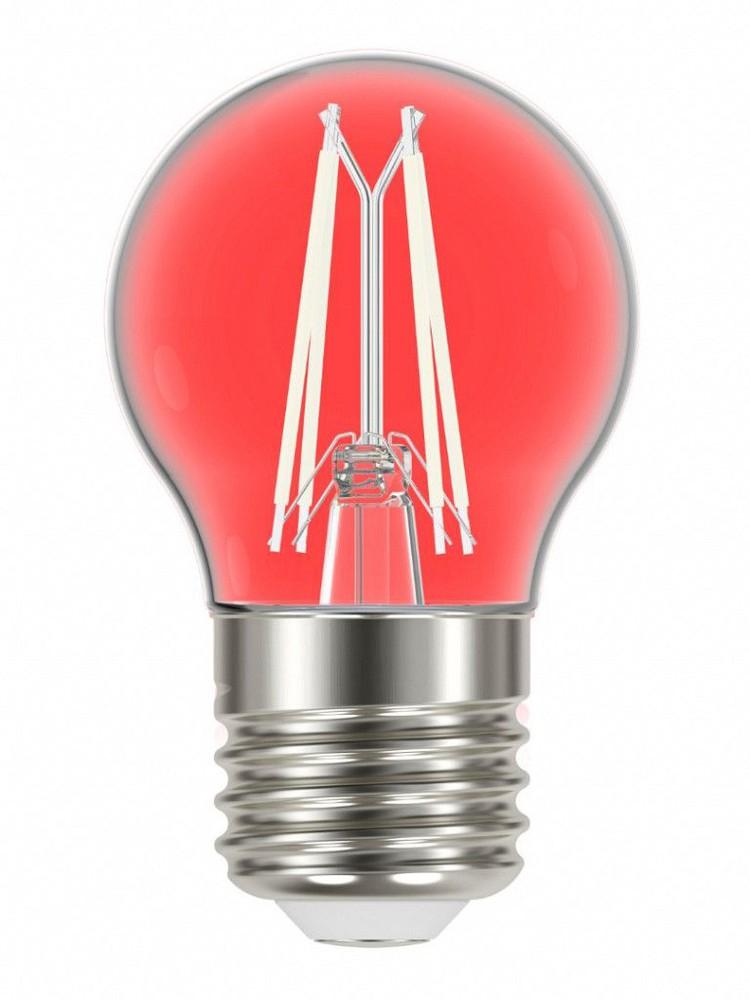 Lâmpada led filamento color g45 4w e27 vermelha
