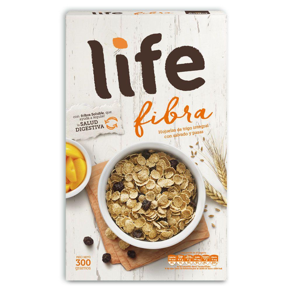 Life cereal con salvado y pasas