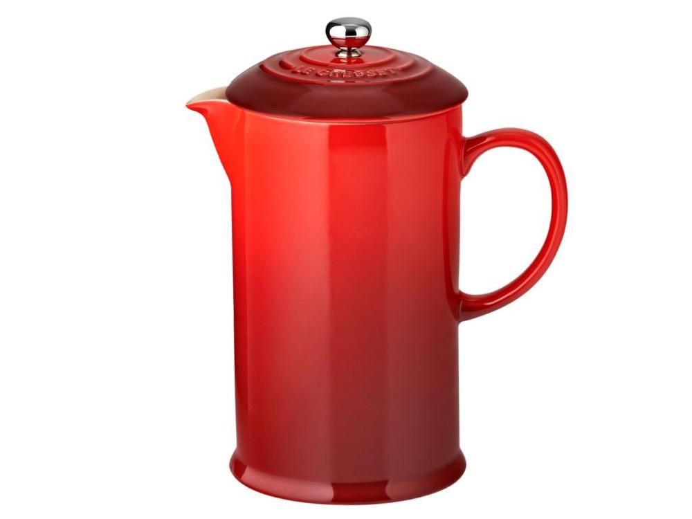 Cafetera 800ml con prensa cereza 25,5x14x18cm