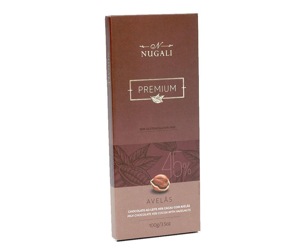 Chocolate 45% com avelã