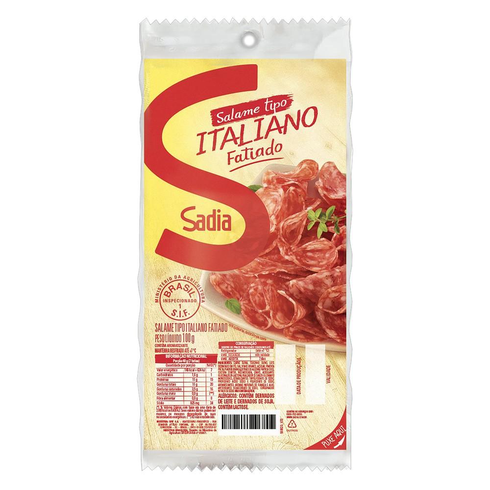 Salame italiano fatiado
