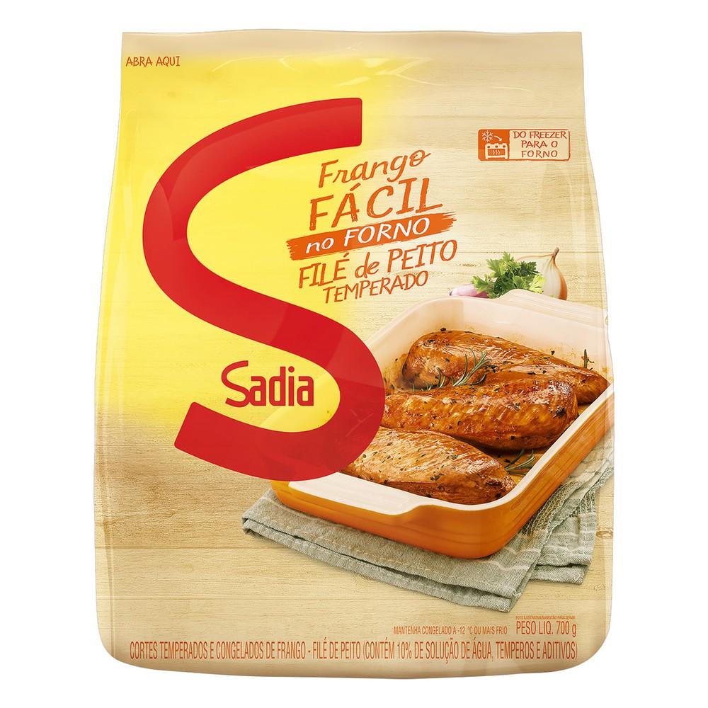 Filé de peito de frango congelado temperado fácil
