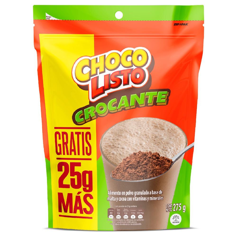 Bebida chocolate en polvo con gránulos crocantes