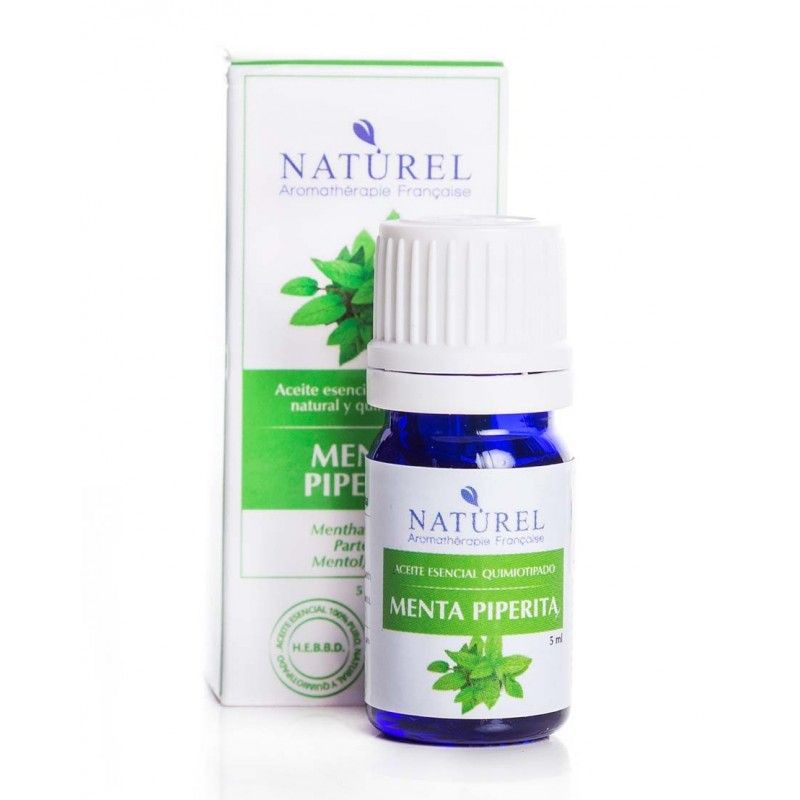 Aceite de aromaterapia menta piperita botella de 5ml