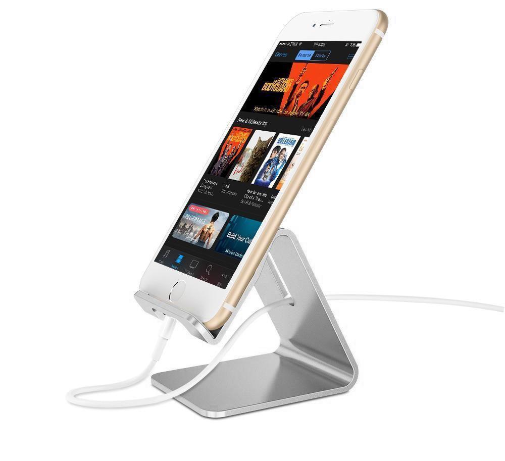 Soporte de escritorio para celular y tablet de aluminio Caja con 1 unidad