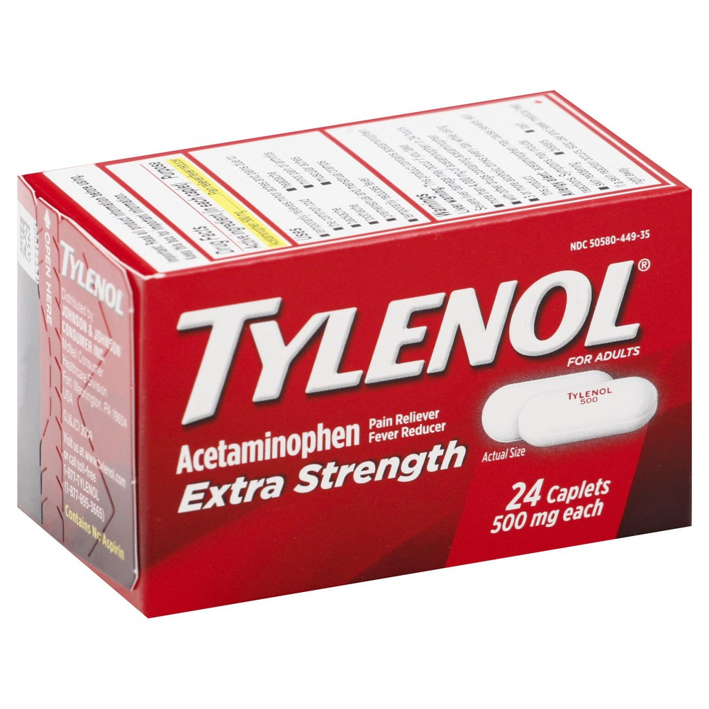 Extra Strength Acetaminophen 500 mg Pain Reliever 24 caplets