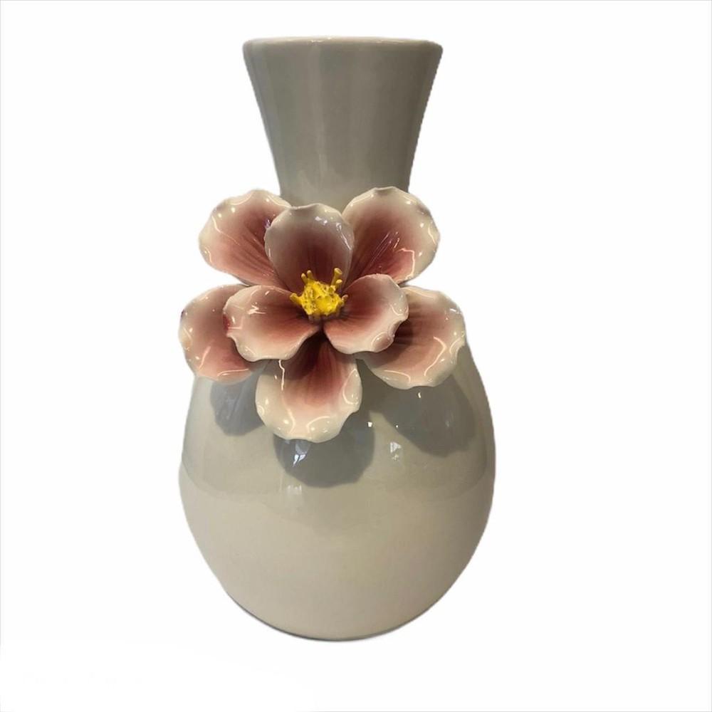 Florero cerámica blanco m