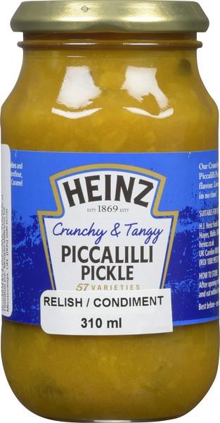 Crunchy piccalilli pickle sauce