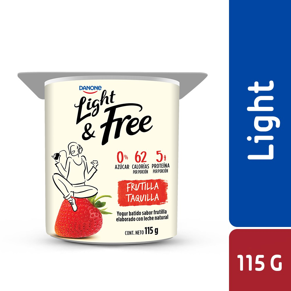 Yogur batido light sabor frutilla