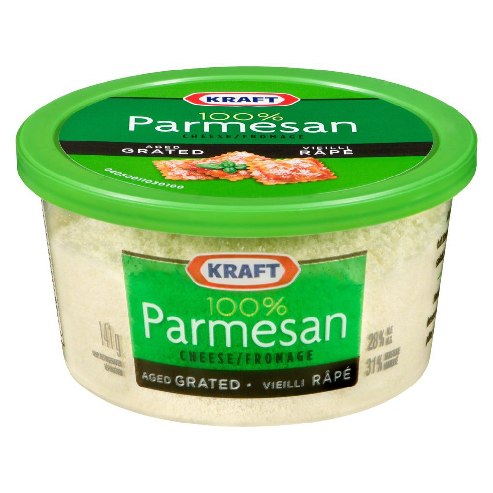 Grated aged parmesan cheese