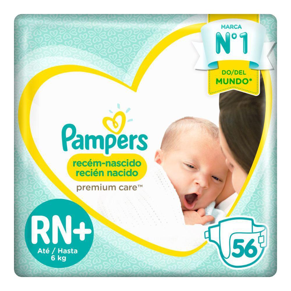 Pañal premium care recién nacido RN+