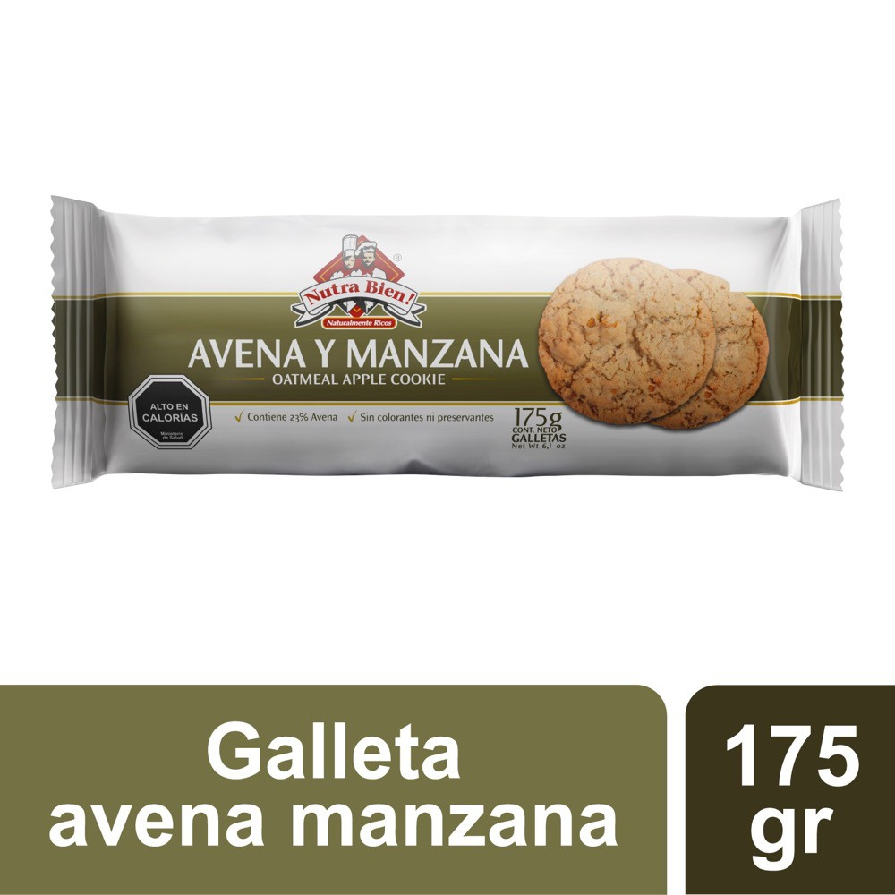Galletas avena y manzana Bolsa 175 g