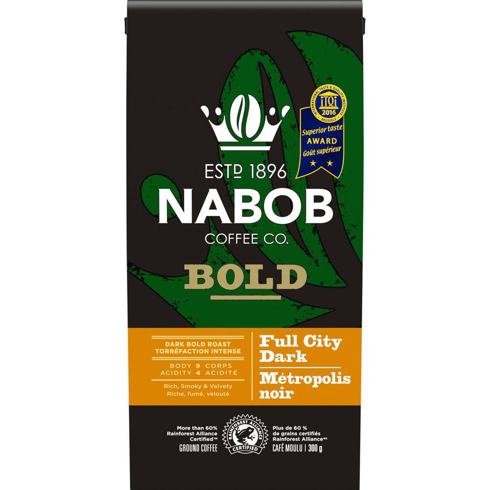 Bold full city dark roast ground coffee