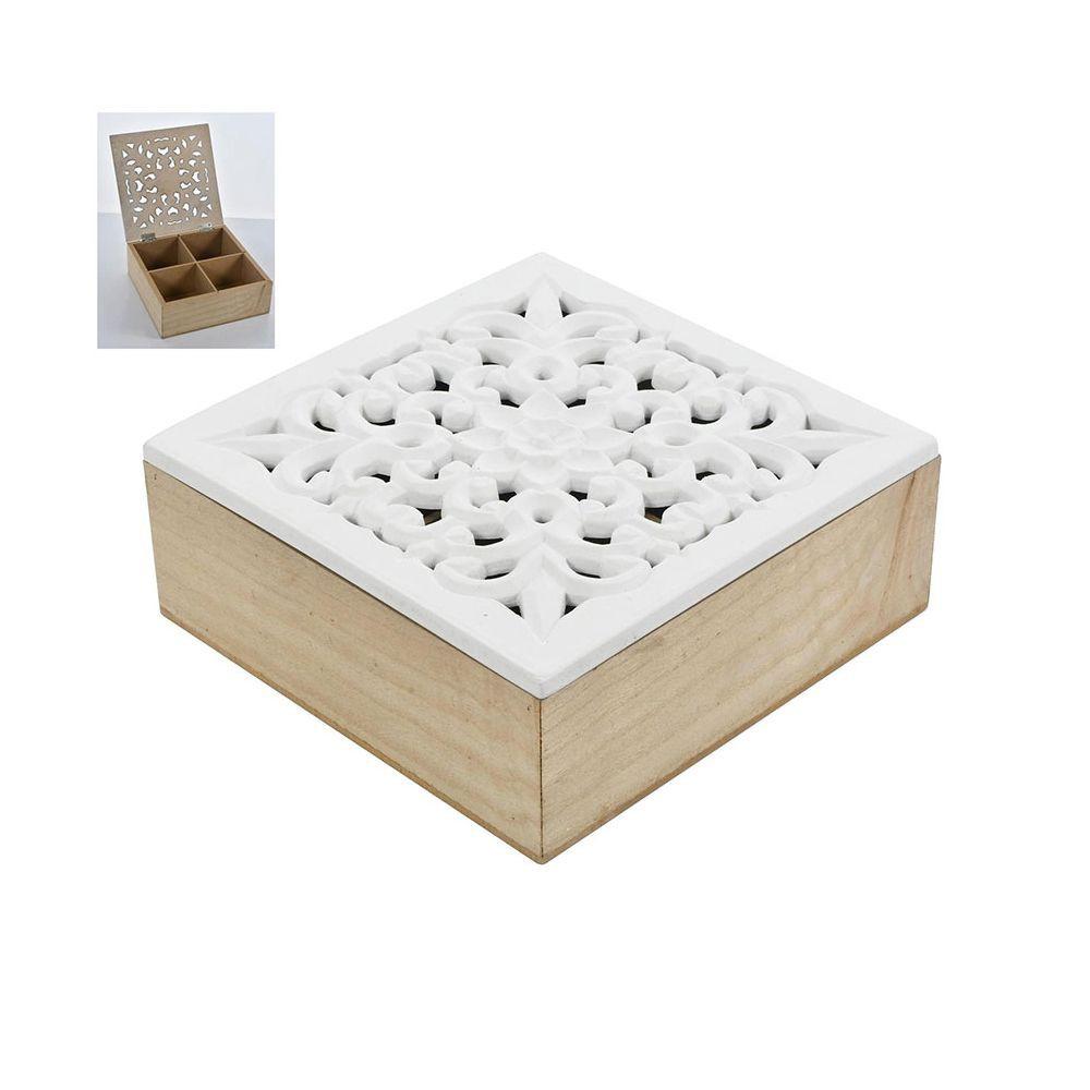 Caja té flor 18 X 18 X 6.7 cms