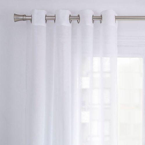 Cortina velo lisa blanco 140x220 cm