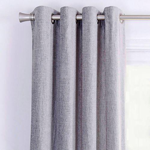 Cortina chenille gris 140x220 cm