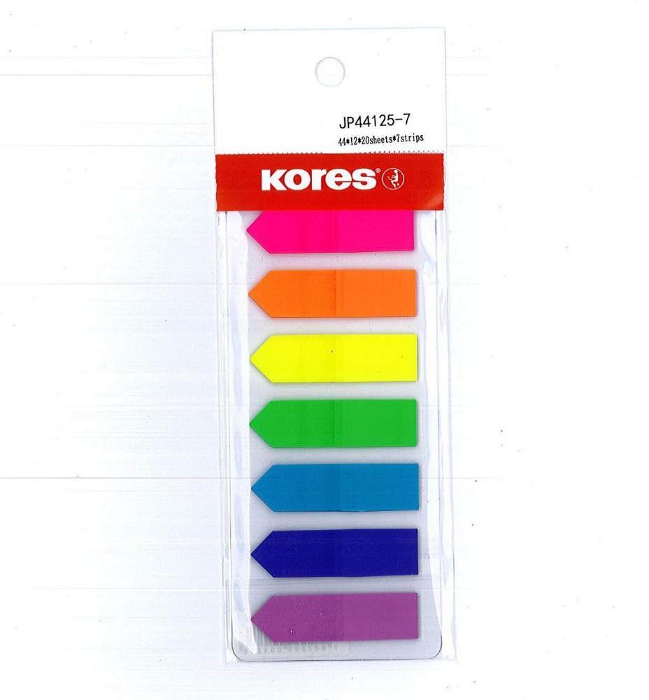 Set banderitas plasticas 7 colores