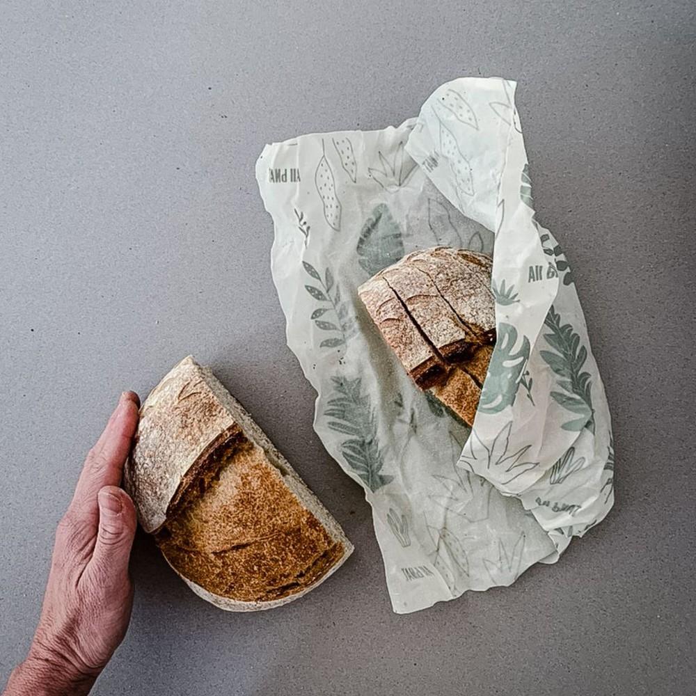Envoltorio de alimentos reutilizables  3t (s+m+l)  botánica 18x18 + 25x25 + 33 x 35 cm
