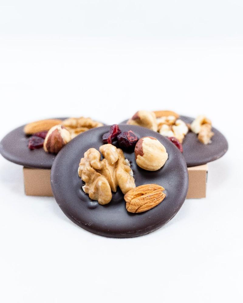 Bruxelles - Monedas (mendigos) de chocolate semi amargo s/azúcar Bolsa 160 grs aprox. 10 unidades