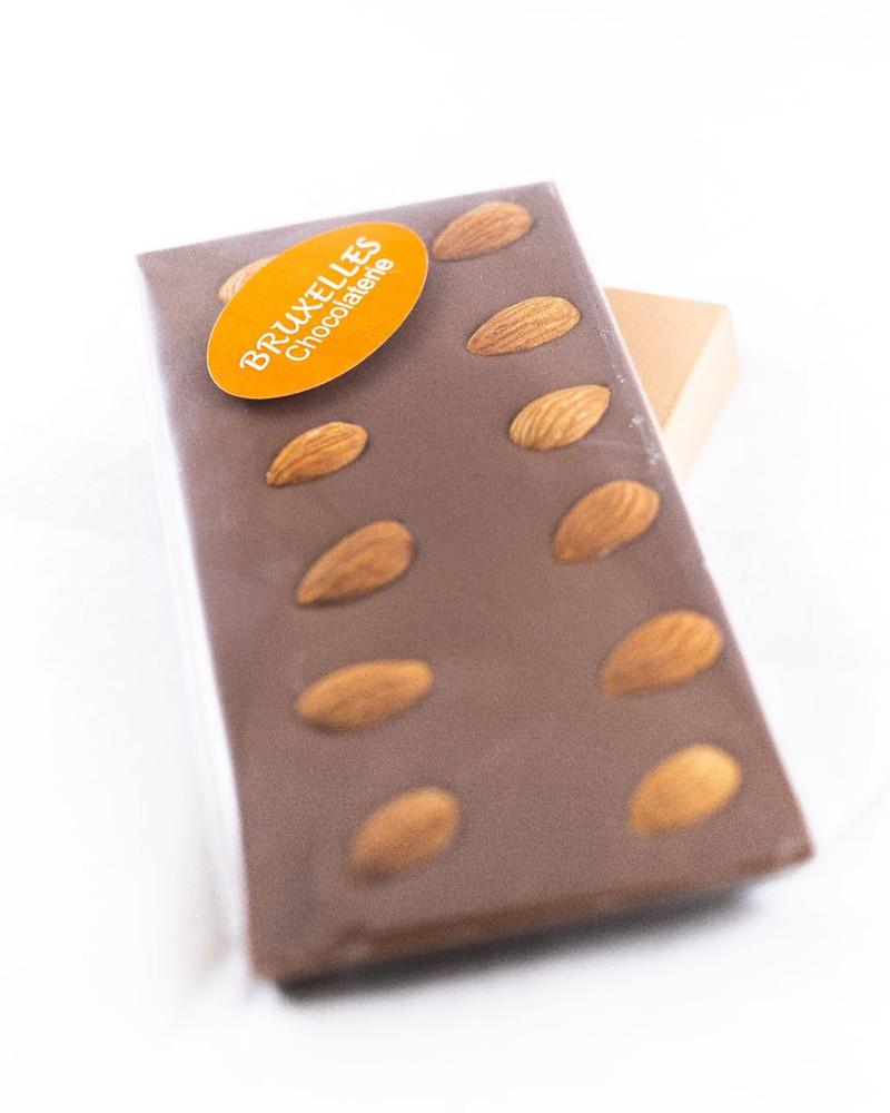 Barra chocolate de leche sin azúcar c/almendras