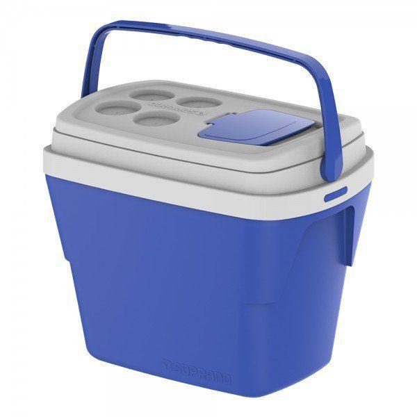 Caixa térmica com alça azul