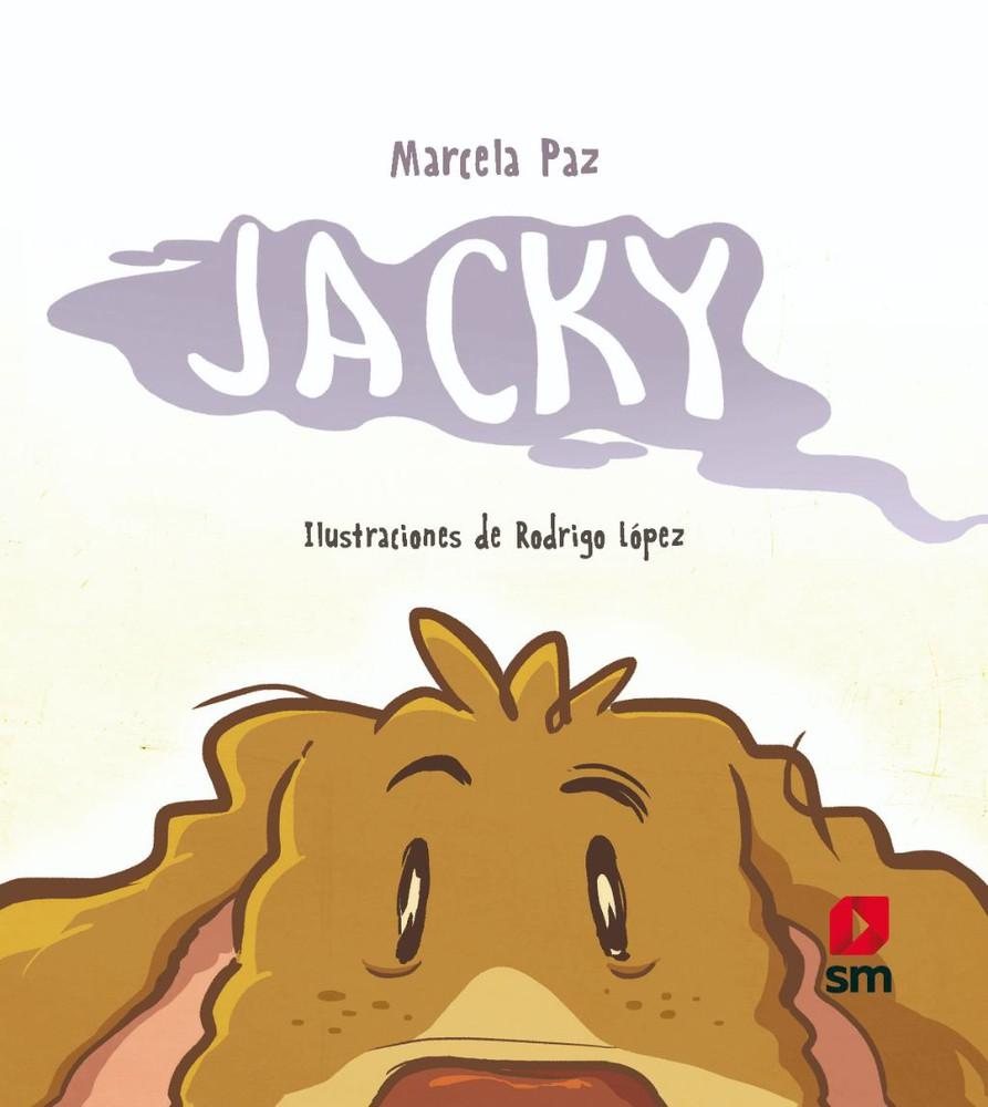 Jacky 21,5 x 21,5 cm. tapa dura, con páginas a todo color, en papel couché.