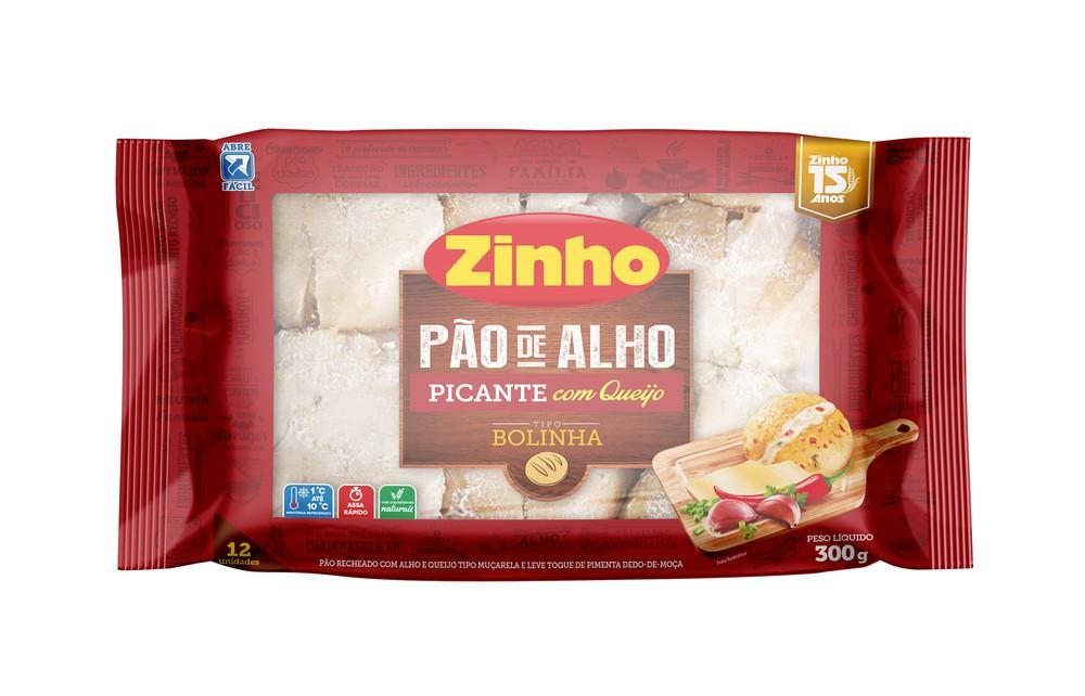 Pão de alho bolinha recheio picante com queijo