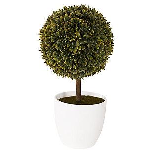 Arbol artificial verde con amarillo 26 x 14 x 26 cm
