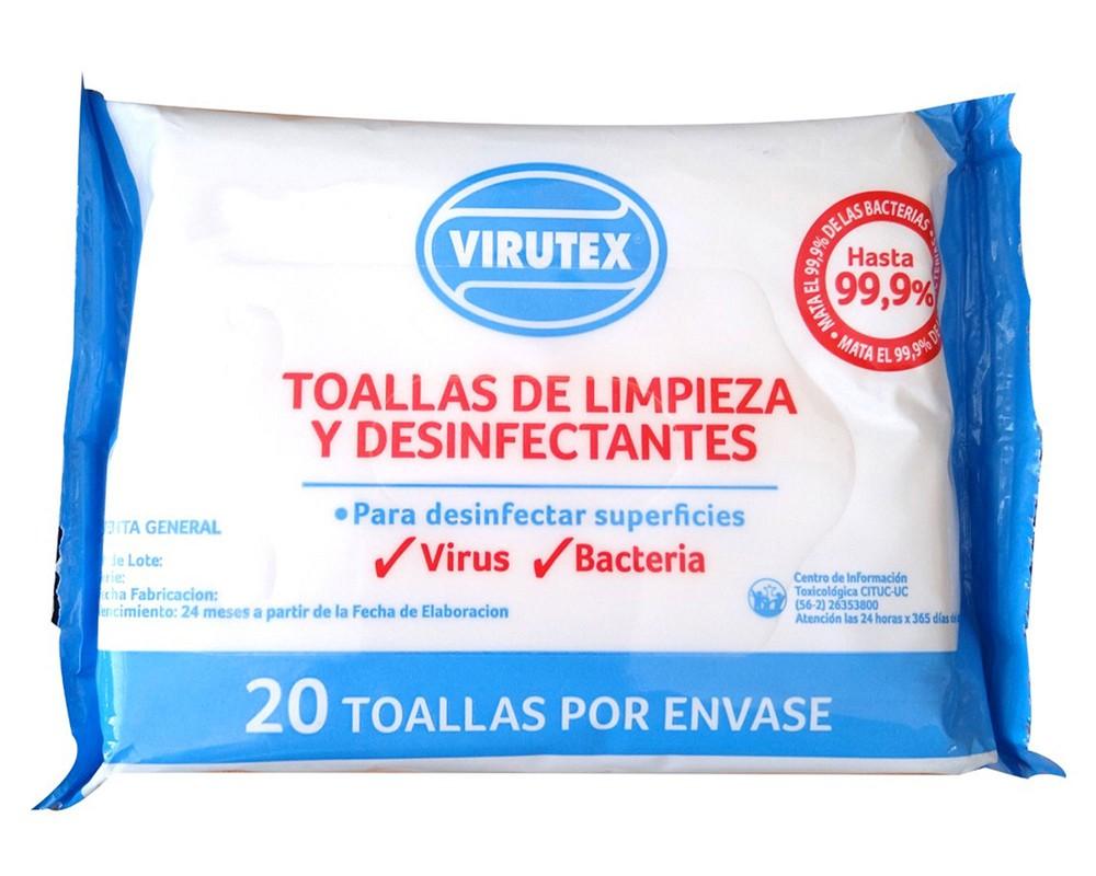 Toallas de limpieza y desinfectantes Bolsa de 20 unidades