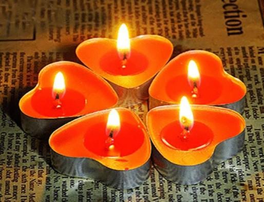 Kit velas coração