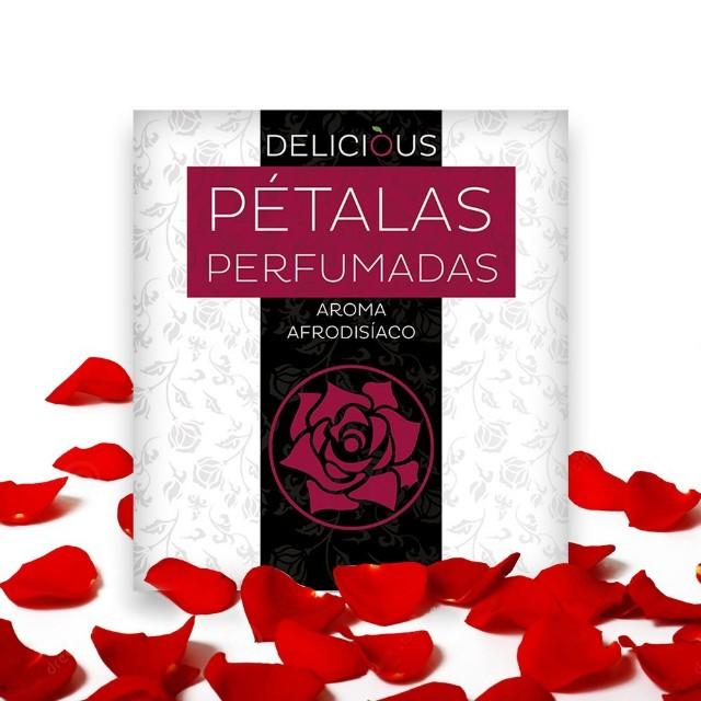 Pétalas de rosas aromáticas