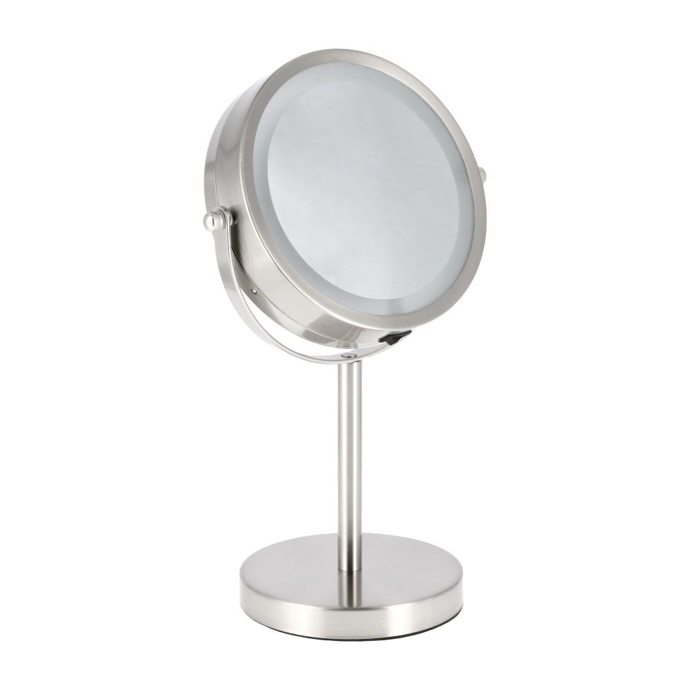 Espejo Pedestal Metal Luz Led 5X