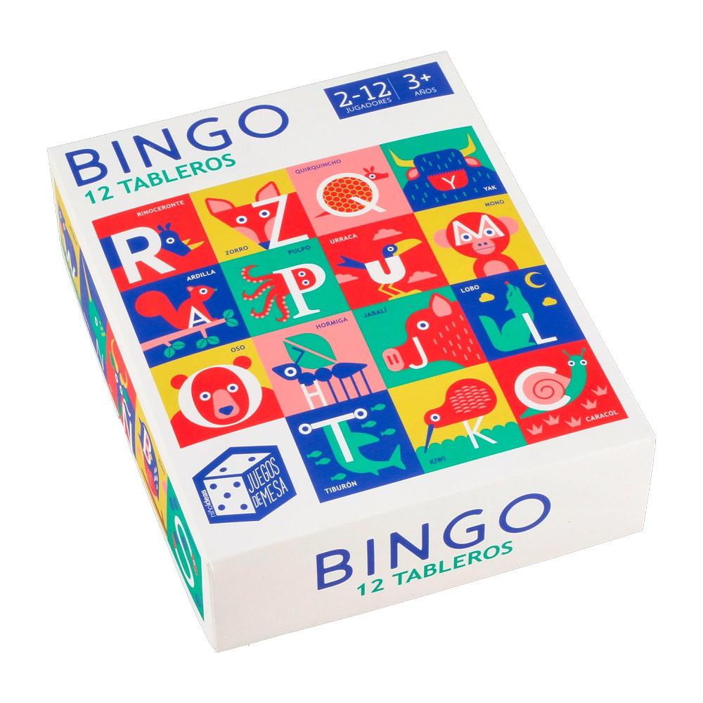Bingo 12 Tableros De Cartón