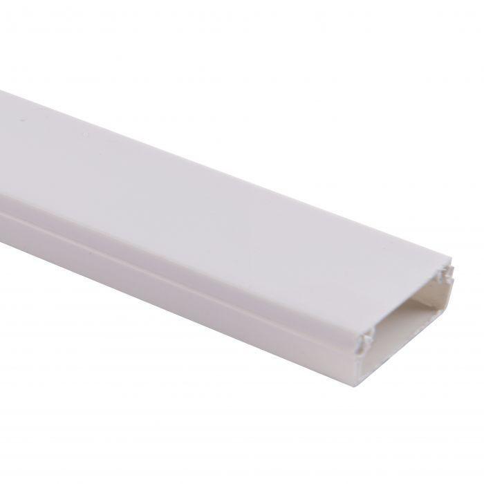 Canaleta blanca s/tabique 2 mts de largo/20x10mm