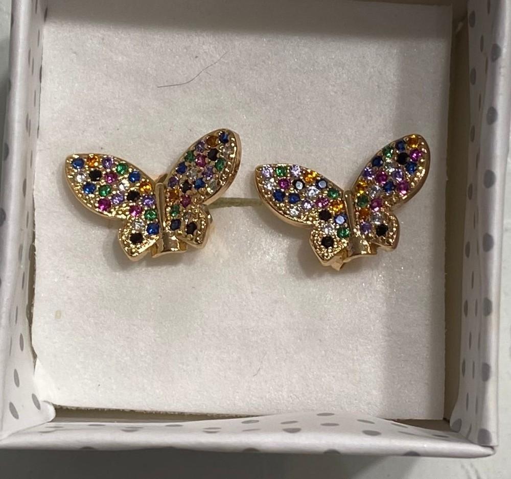 Aros Mariposa brillante