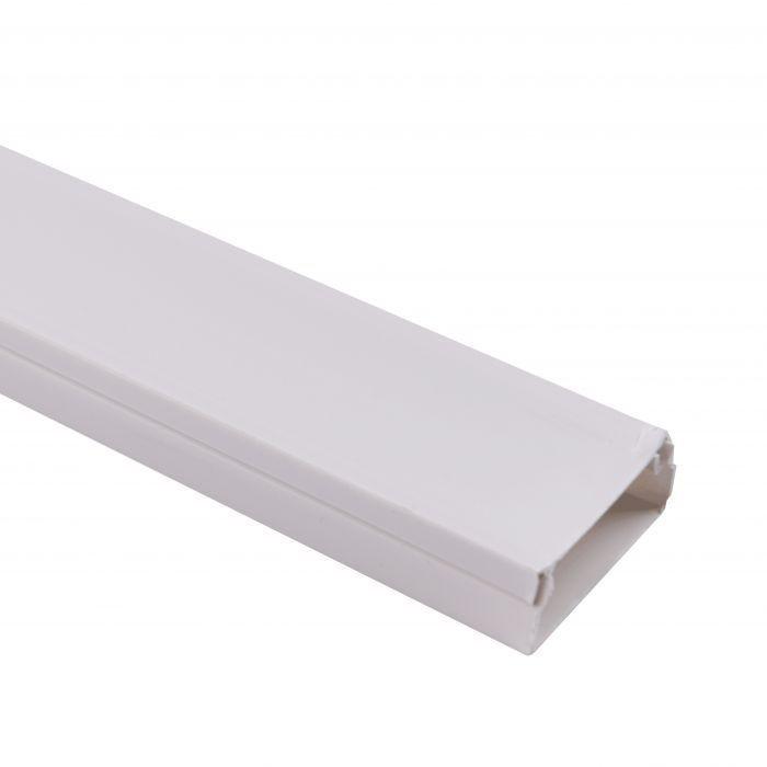 Canaleta blanca s/tabique 2 mts de largo/ 40x16mm