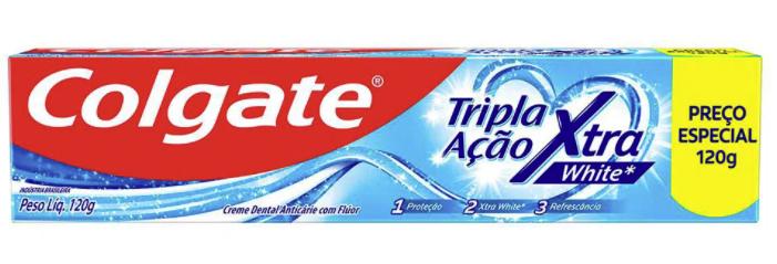 Creme dental tripla ação Xtra white