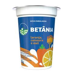 Iogurte natural cenoura, laranja e mel